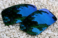 Navy Blue Mirrored Polarized Replacement Sunglass Lenses for Oakley Gascan