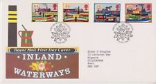 GB ROYAL MAIL FDC FIRST DAY COVER 1993 INLAND WATERWAYS STAMP SET GLOUCESTER PMK