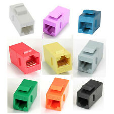 RJ45 Cat6 Coupler Keystone Jack Choose Red or Orange,Green,Purple,Gray,Blue,etc.