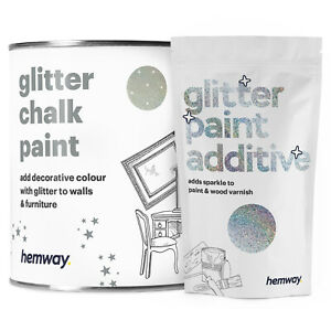 Hemway Silver Holographic Glitter Paint Walls Ceiling Furniture Wallpaper Chalk