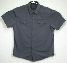 Affliction Black Premium Mens Gray Embroidered Button Up Shirt Size Large EUC