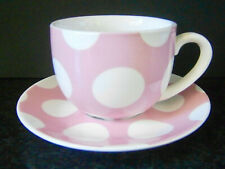 COLLECTABLE MAXWELL WILLIAMS LARGE PINK POLKA DOT CUP & SAUCER