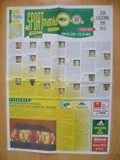 UEFA Cup 1999- NANTES v ARSENAL ~The scoresheet football club Nantes Atlantique