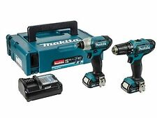 Makita CLX201AJ 10.8v CXT 2 Piece Kit With X 2.0ah Batteries Charger MAKPAC Case