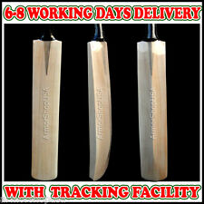 Custom Made English Willow Cricket Bat  +Oil Nock, Cover, Toe Guard, Scuff Sheet