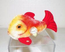 """VINTAGE STEIFF STUFFED ANIMAL FISH FLOSSY MINI 4"""" EUC"""