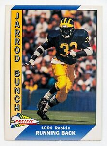Jarrod Bunch #438 (1991 Pacific) Football Card, Michigan Wolverines Rookie!