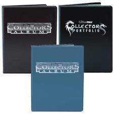 Ultra Pro 9 Pocket Collectors Album Binder Black Blue 180 Card Folder Portfolio