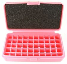 Fs Reloading Plastic Flip top Ammo Box Solid Pink Sp-50-Pink-Solid