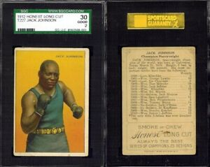 1912 T227 Honest Long Cut Jack Johnson SGC 30 good