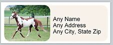 30 Personalized Address Labels Paint Horse Buy 3 get 1 free (ac 660)