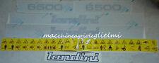 Serie Decalcomania-Adesivi Per Trattore Landini 6500..