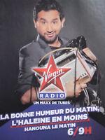 PUBLICITÉ DE PRESSE 1990 HANOUNA LE MATIN SUR VIRGIN RADIO - ADVERTISING