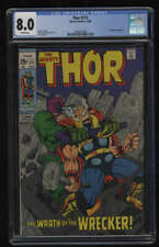 Thor #171 CGC 8.0 White Pages Marvel 1969 Wrecker Appearance