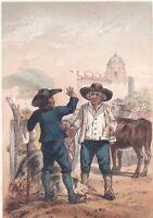 Auvergne Puy de Dôme Clermont Costume Régional Marchands Bestiaux 1860