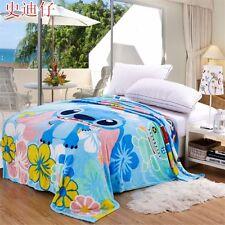 New Colorful Lilo & Stitch Warm Flannel Plush Soft Throw Blanket Bedding Gift