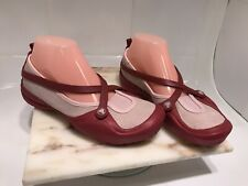 Crocs Criss Cross Slip On Shoes Red Pink Size 8 M