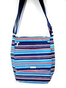 Baggallini TOWN Bagg Crossbody Shoulder Bag Blue Stripe New NWT