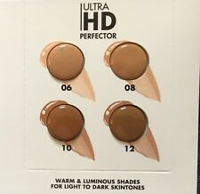 Make Up For Ever Ultra HD Perfector Blurring Skin Tint SPF 25 Sample Card Of 4