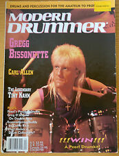 Modern Drummer Magazine April 1991 Gregg Bissonette, Carl Allen, Tiny Kahn