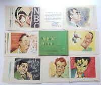 NBC Parade Of Stars Old Hollywood Stars Sinatra, Bob Hope 54 Illustrations 1947