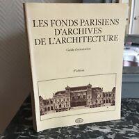 Las Fondo Parisinos Archivos Arquitectura Guía Orientación Ebay 1981