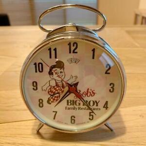 Vintage Big Boy Bobby Bob's Wind Up Table Clock Collectible Retro Free Shipping