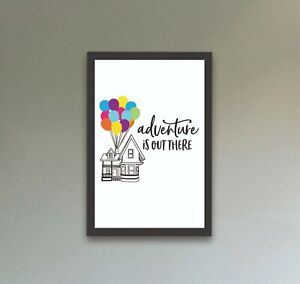 Disney Up House Balloons Quote A4 Print Art Framed Gift Home Nursery Christening