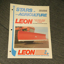 Leon - Stars in Agriculture, Four Wheel Drive Tractor Dozer Blades - ad pamphlet