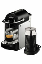 NEW by Delonghi EN120SAE Pixie + Aeroccino Capsule Coffee Maker: Silver