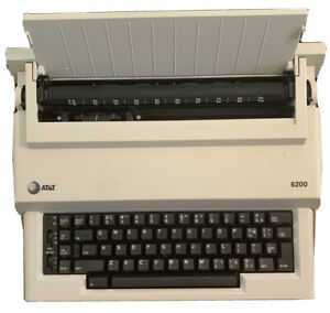 AT&T Personal Portable 6200 Electronic Typewriter Tested Orig. Box Manual & Ink