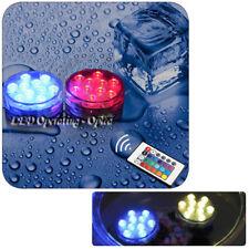 Mini Waterproof Underwater LED Aquarium Fish Tank RGB Light / Remote Control