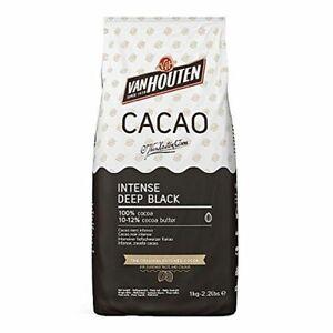Intense Deep Black Kakao, Van Houten, Callebaut 1 kg, Kakaopulver schwarz