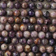 Grade A Natural Charoite (purple) Gemstone Round Beads 4mm 6mm 8mm 10mm