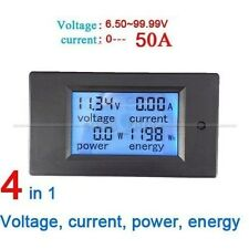 DC 50A LCD Combo Meter Spannung Strom KWh Watt Car Battery Panel Power Monitor
