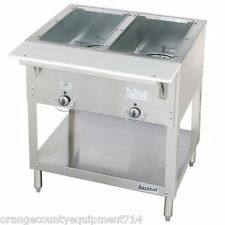 New 2 Well Electric Steam Table Dry Bath Duke E302Sw #3397 Sealed Well Nsf Usa