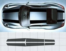Porsche 911 (997)Bonnet /roof / Boot/ Spoiler Stripe Decal Set Plain. 911R style