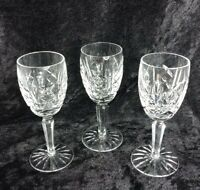 "Waterford Crystal Stem Wine Glasses BEAUTIFUL - 5"" Set of 3 Pre-Owned EUC"