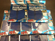 """IT'S ACADEMIC XXL Stretchable Book Cover Lot of 10, Fits 10"""" x 15"""" Books, Blue"""