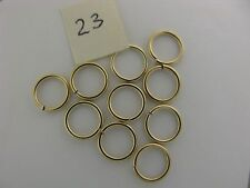 14K Solid Gold Open Jump Rings Jumpring  diam. 7.2mm New Polished (10)  item #23