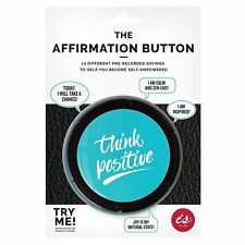 The Affirmation Button 10 Different Sayings Novelty Office Desk Gift New
