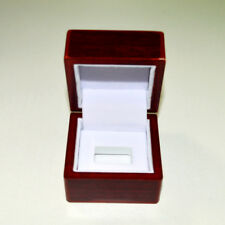 One Hole Wooden Glass Display Box for NBA NFL Cup Championship Ring