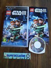 LEGO STAR WARS 3 III PSP SONY PLAYSTATION PAL COMPLETO