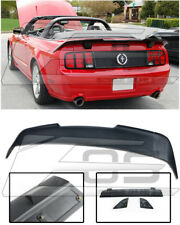 For 05-09 Ford Mustang R Style 3 Pcs Conversion Rear Trunk Lid Wing Lip Spoiler
