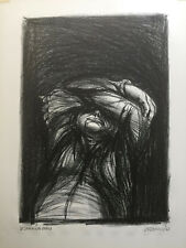 """Original Lithograph  By JAMES KEARNS- """"DESPAIRING MAN"""" Published By AAA"""