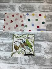 3 x Emma Bridgewater Cocktail Napkins (Hearts, Dots, Birds)