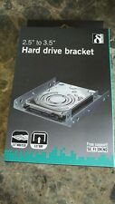 More details for ssd hdd drive bracket adapter 2.5 to 3.5 metal branded deltaco fast uk shipping
