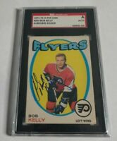 BOB KELLY - 1971/72 O-PEE-CHEE - ROOKIE - AUTOGRAPH - SGC SLABBED AUTHENTIC