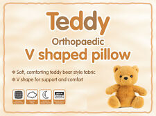 V Shaped Pillow Teddy Sherpa Fleece Orthopaedic Maternity Neck Pillow