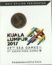 (hs) Malaysia 29th Sea Games Nordic Gold coin card 2017 (BU)
